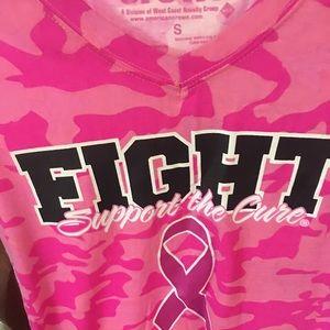 Five for Breast cancer T-shirt V-neck
